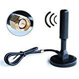 Outdoor Vehicle TV Radio Antenna - Magnetic Antenna Mount for Your Car, High Gain FM AM with Antenna Signal Booster