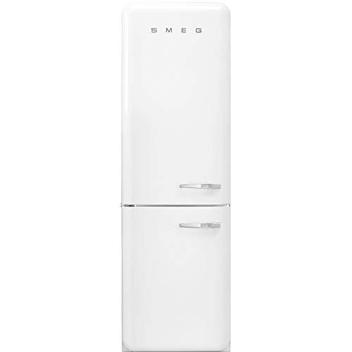SMEG Frigorifero Combinato Anni  50 FAB32LWH3 Total No Frost Classe A+++ Capacità Lorda 365 Litri Colore Bianco cerniere sinistra