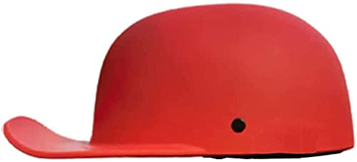 Vintage Motorcycle Helmet DOT Certified Adults Open-Face Motorbike Helmets Retro Half Helmet for Scooter Moped Baseball Cap Men and Women Street Cruiser Jet Style Helmet A,L