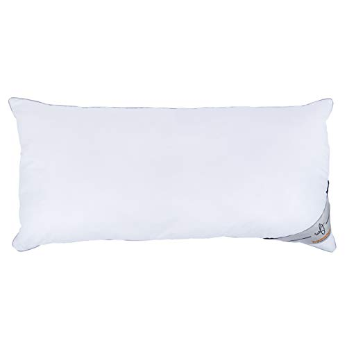 Traumschloss Kopfkissen Soft Faserkissen | Füllung aus 3D Soft Polyesterfasern | Bezug aus Soft-Feinbatist aus 100% Baumwolle veredelt | Weiß | 40 x 80 cm
