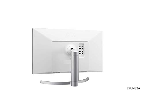 LG 27UN83A 68,58 cm (27 Zoll) UHD 4K Monitor (IPS-Panel, VESA Display HDR 400, USB-C), weiß silber