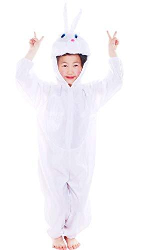 Lovelegis (Talla XXL) Disfraz de Conejo Blanco para niño y niña - 6/7 años - Disfraz de Carnaval - Halloween - Conejito - Conejito - Unisex - Cosplay