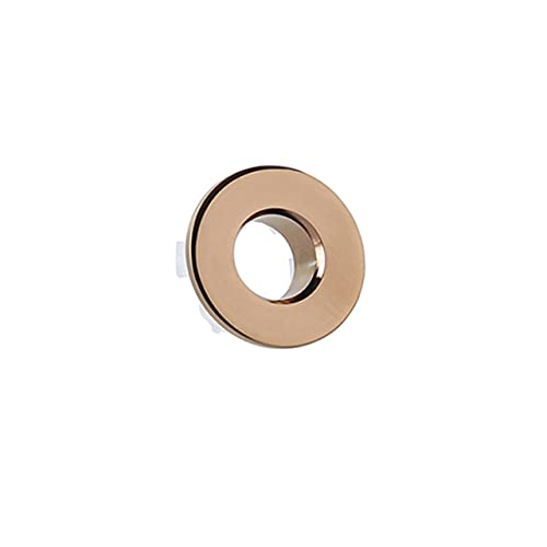 OBOYGANGNQE Sink Overflow Cover Round Hole Overflow Ceramic Sink Pots Copper Insert Chrome Basin Accessory Bathroom Fixture Improvement-Rose,China,Other