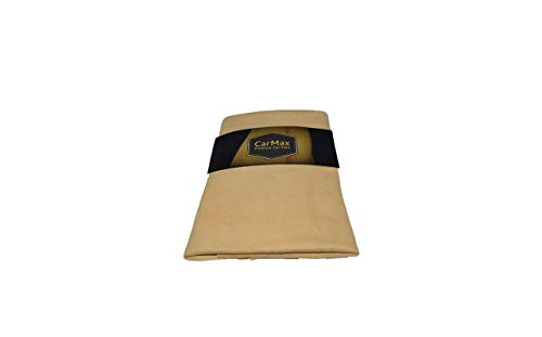 CarMAX English Premium Grade Natural Chamois Leather - Large - Perfect for...