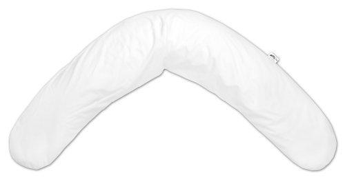 Coussin d'allaitement et de détente en éponge peluche/Spandex, uni blanc (91)
