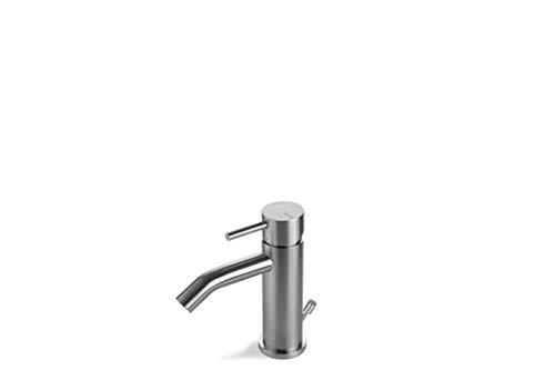 Miscelatore bidet in acciaio inox satinato Vema Tiber Steel V17070