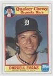 Amazoncom Darrell Evans Baseball Card 1986 Topps Quaker Chewy