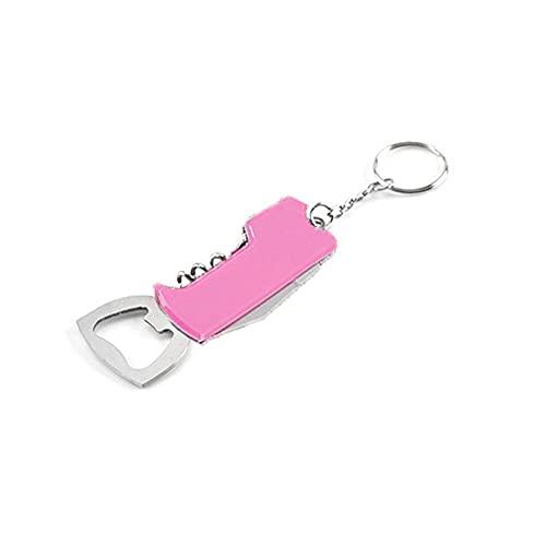 Kaikso-In Keychain Bottle Opener, Creative Stainless Steel Portable Multifunctional Wine Corkscrew Beer Handle Opener Kitchen Tool