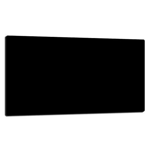 TMK - Placa protectora de vitrocerámica 90 x 52 cm 1 pieza cocina eléctrica universal para inducción, protección contra salpicaduras tabla de cortar de vidrio templado como decoración, negro