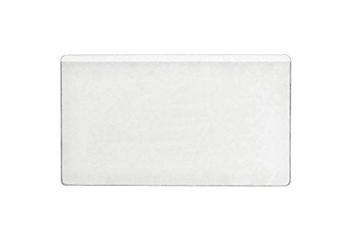 Durable 801919 Pocketfix, Tasca Adesiva per Cataloghi, Portalistini, Confezione da 10 Pezzi, 105 x 65 mm, Trasparente