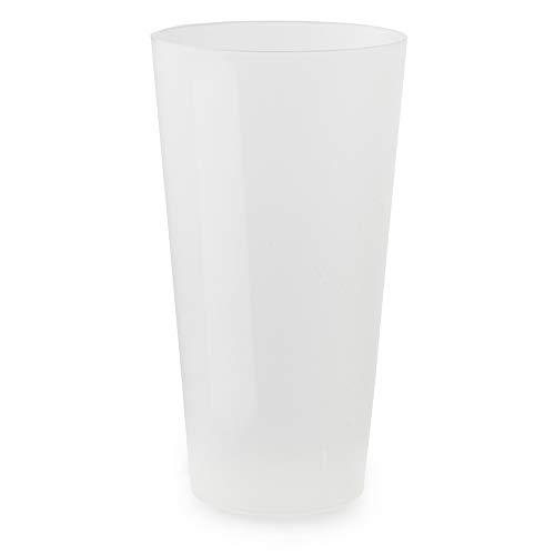 LE PETIT FOURNISSEUR - 50 Gobelets Réutilisables 50cl - Plastique Polypropylène Rigide - Couleur Givrée