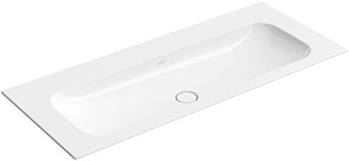 Villeroy&Boch Schrankwaschtisch Finion 4164 1200x500mm o Hahnloch ohne Überlauf Eckig Weiß Alpin CeramicPlus