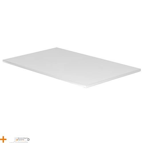 Büromöbel Experte Tischplatte | DIY Schreibtischplatte | Spannholzplatte belastbar bis 120 kg | Bürotischplatte 2,5 cm | Verschiedene Formen und Dekore