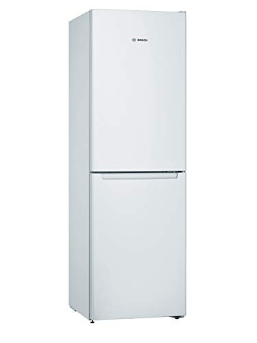Bosch KGN34NWEAG Serie 2 Freestanding Fridge Freezer, No Frost, PerfectFit, MultiBox, SuperFreeze, MultiAirFlow and Reversible Doors, 186cm, 297L capacity, 60cm wide - White