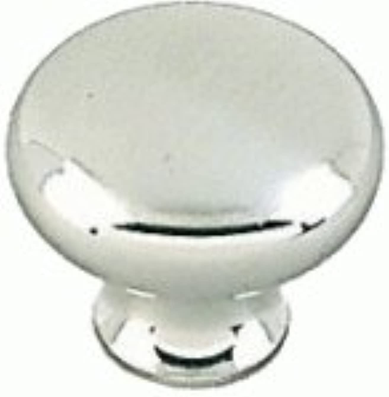 Amerock BP1471PWT Anniversary Bp85326 Round Cabinet Knob, 1 in Projection, 1-3/16 in Dia, Zinc Alloy, Polished Chrome