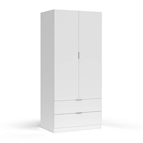 Habitdesign LCX222O - Armario ropero 2 Puertas y 2 cajones, Armario Dormitorio,...