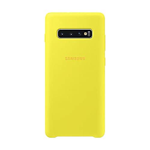 Capa Protetora Silicone Samsung S10 Plus Amarela