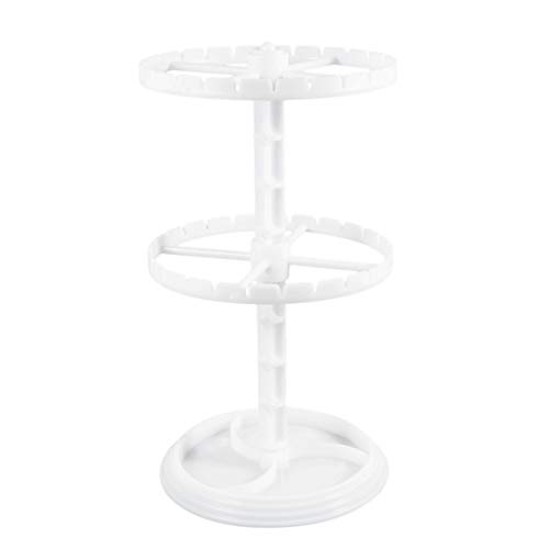 EXCEART Rotating Jewelry Holder Necklace Organizer Display Bracelet Earrings and Ring Tray Jewelry Holder Hanger Metal (White)