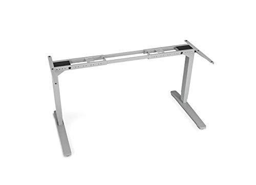 UPLIFT Desk - V2 2-Leg Height Adjustable Standing Desk Frame (Gray) with Advanced 1-Touch Digital...