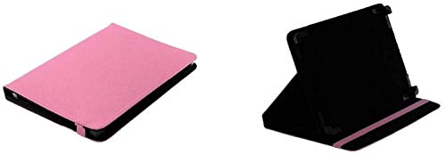 gtsk Bookstyle Tablet Tasche Etui Book Hülle mit praktischer Standfunktion geeignet für Alcatel-Lucent 1T 10 - Schutz Hülle Mappe Cover pink