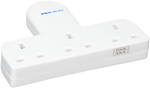 3 Way Triple Gang UK 3 Pin Multi-Socket Plug Extension Mains Adaptor British Approved 13A - White