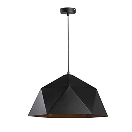 Lámpara Colgante Moderna Lampara Araña Altura Ajustable Techo Iluminación Colgante con Pantalla De Hierro De 15 Pulgadas Luces Colgantes para Isla De Cocina Comedor Negro E27* 1