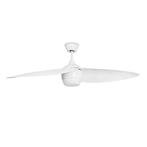 Projector Barcelona Alaska 33411 ventilator met het licht (gloeilamp) LED 18 W lichaam stalen vleugels PC en diffuser opaal ABS wit