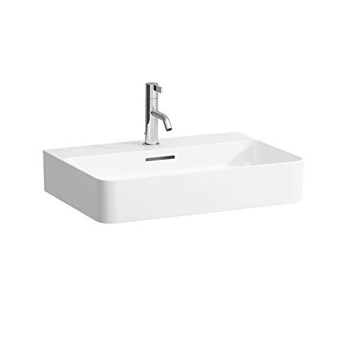 Laufen VAL Möbel-Waschtisch, 1 Hahnloch, mit Überlauf, 600x420, weiß, Farbe: Weiß