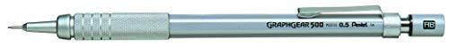 Pentel Graphgear 500 - Portaminas, Plateado, 0,5 mm (PG515-A)