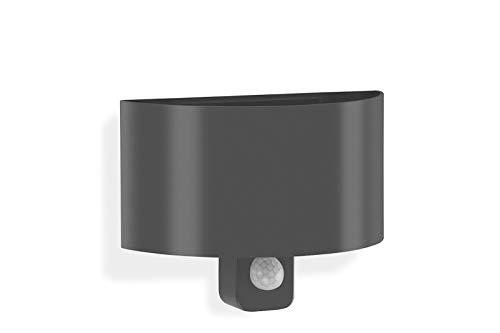 Telefunken – LED Außenwandleuchte mit Bewegungsmelder inkl. Dauerlichtfunktion, Außenwandlampe 7 Watt, 600 Lumen, Lichtfarbe: 4.000 Kelvin neutral weiß, schwarz
