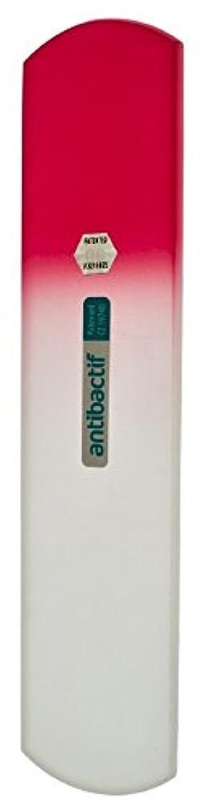 キャプション火曜日ジャンクBLAZEK(ブラジェク) 抗菌ガラスやすり かかと用160mm(ピンクグラデーション)