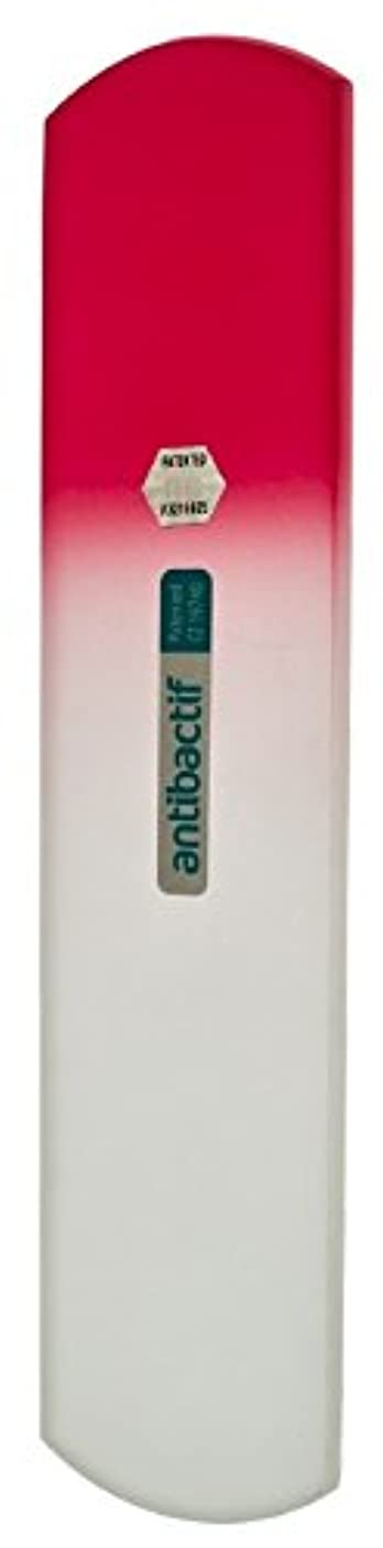 価値ポーク静的BLAZEK(ブラジェク) 抗菌ガラスやすり かかと用160mm(ピンクグラデーション)