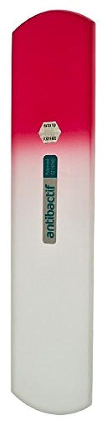 危険を冒しますステッチリアルBLAZEK(ブラジェク) 抗菌ガラスやすり かかと用160mm(ピンクグラデーション)