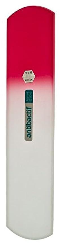 キー日付付き常識BLAZEK(ブラジェク) 抗菌ガラスやすり かかと用160mm(ピンクグラデーション)