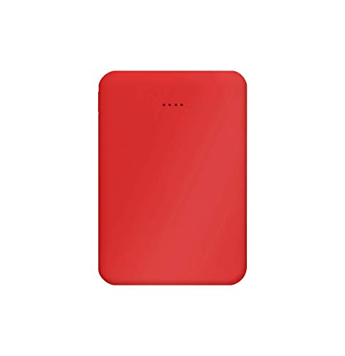 Juice 2 Charges Power Bank Portable Charger for Apple iPhone, Samsung, Huawei, Microsoft, Oppo, Sony - Red