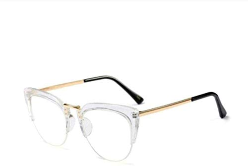 PJPPJH Glasses Fram Eyeweare Art Fashion Comfortable Reading Cat Eye Ladies Glasses Frames Men Women Half Frame Er Eyeglasses Computer Eyewear Gift
