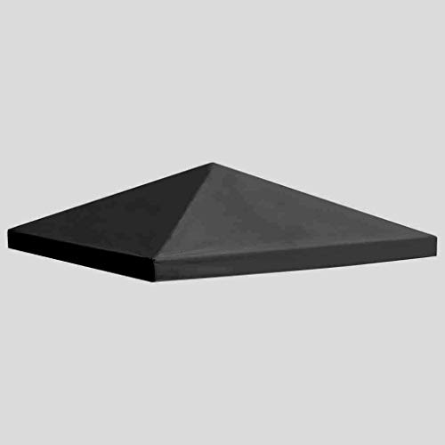 habeig Ersatzdach 340g/m² Dach EXTRA STARK PVC Beschichtung Pavillondach Wasserdicht Pavillon 2,98x2,98m (ca. 3x3m) (Anthrazit #92)