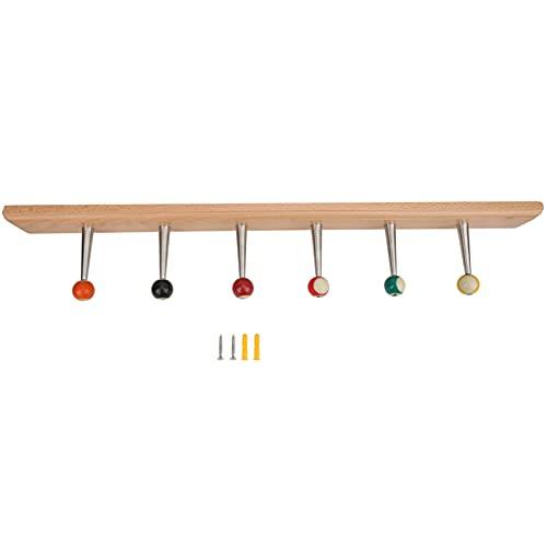 Yinuoday Holz Kleiderbügel Billard Stil Wand Dekoration Mantel Rack-Home Möbel Kleidung Tasche Haken Racksnatural Farbe 630 * 60 * H110