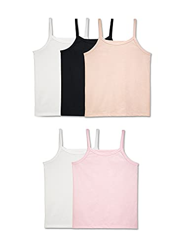 Fruit of the Loom Girls' Big Undershirts (Camis & Tanks), Cami-5 Pack-Assorted, Large