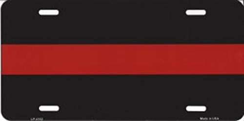 Thin Red Line Firefighters Novelty License Plate - LP-4182