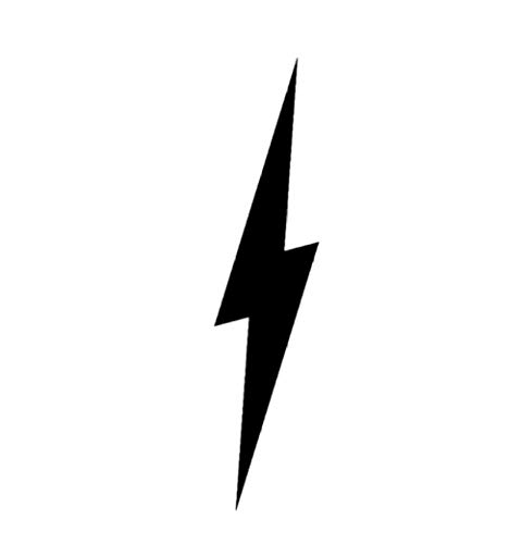 Pegatinas de calcomanías para automóviles Interesante Electric The Lightning In Night Is Brilliant Vinyl Car Sticker Decal 3.8cm * 17.1cm 1 piezas