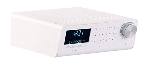 VR-Radio Unterbauradio DAB: Unterbau-WLAN-Küchenradio mit Amazon Alexa, DAB+, UKW, 10 Watt, weiß (Unterbauradios)