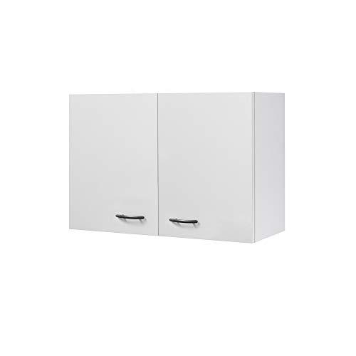Flex-Well Küchen-Hängeschrank UNNA | Oberschrank vielseitig einsetzbar | 2-türig | Breite 80 cm | Weiß