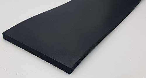 Gummistreifen Dicke 10mm - Maße: 2000mm x 100mm - Breite wählen (80mm, 100mm, 120mm) - Länge (5cm bis 10m) wählen - | Material NR/SBR | Gummiunterlage Gummileiste Gummizuschnitt