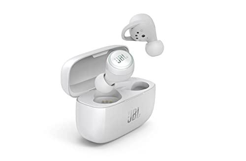 JBL LIVE 300TWS In-Ear Bluetooth Kopfhörer in Weiß – True Wireless Ohrhörer mit Freisprecheinrichtung – Bis zu 6 Stunden Akkulaufzeit mit einer Ladung – Inkl. Ladecase