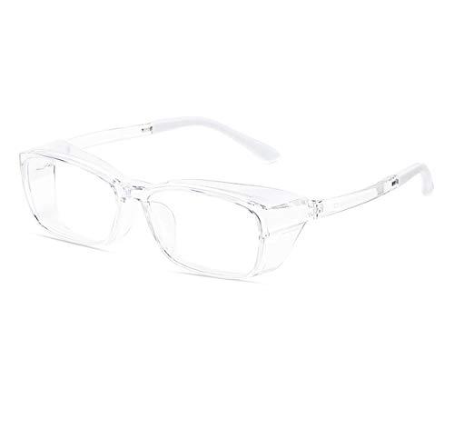 Anti-niebla gafas de seguridad para mujeres hombres anti-polen protectores ojo de ojo azul claro bloqueo con escudos laterales gafas de seguridad lente de potencia cero