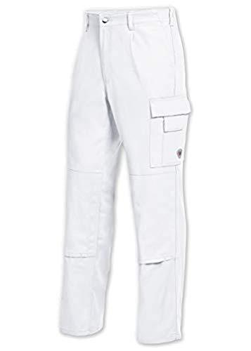BP 1486-060-21-48 Arbeitshosen, mit elastischem Rückenteil, 300,00 g/m² Reine Baumwolle, weiß ,48