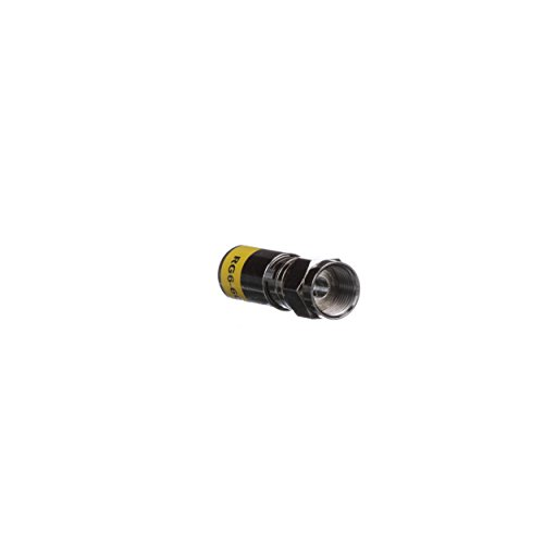 Klein Tools VDV812-606 F-Connector for RG6/6Q Coax Cable, Universal RG6 Compression Connector