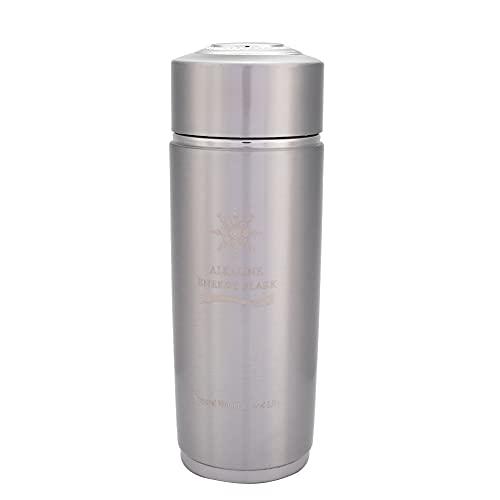 Okuyonic La Botella de Agua alcalina Aumenta la Botella de Nano Equilibrio del metabolismo para la Familia para Acampar(Silver)