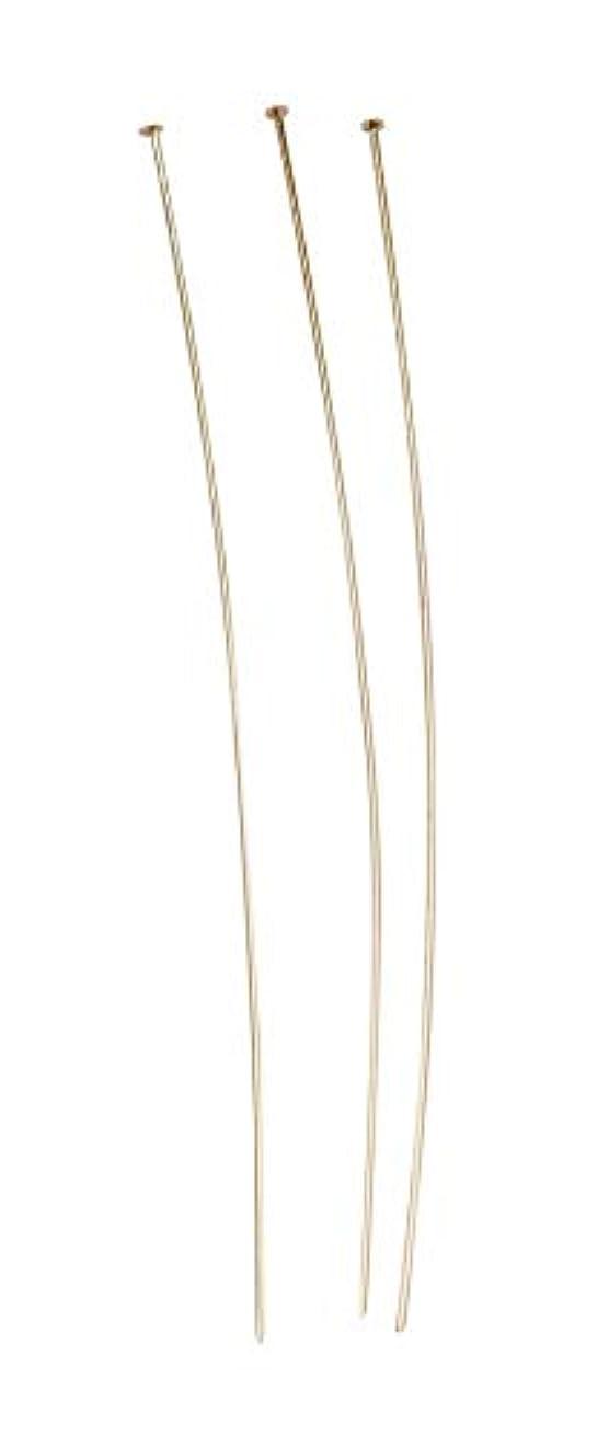 Jewelry Designer 1999-557 Brass 4In. Head Pin Gold 7 Pc Pkg